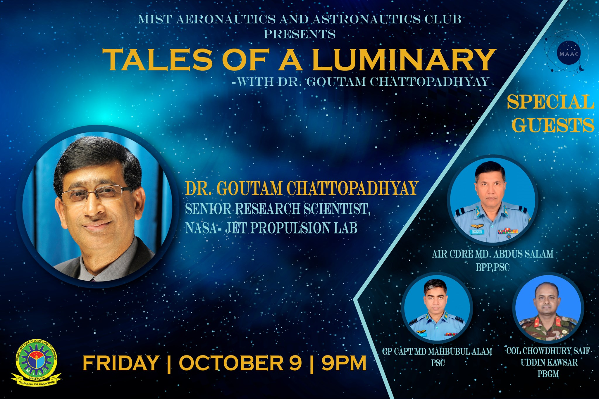 "Online Event ""Tales of a Luminary"" Organized by MAAC"