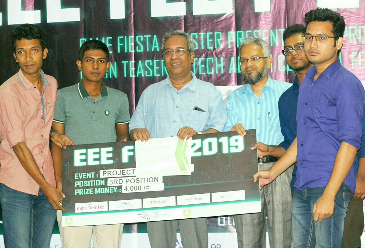 2ND RUNNER-UP IN EEE FEST, 2019 (ULAB)